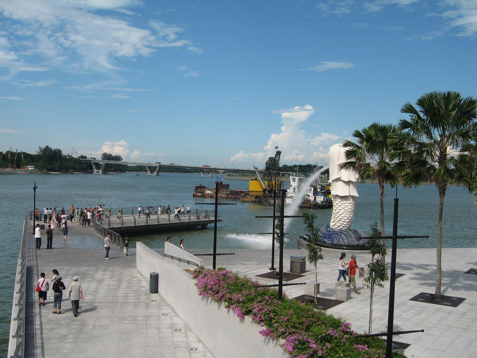 Merlion Park Singapore City 360